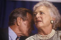 Pres. George H. Bush and first lady Barbara Bush. - © John Francis Ficara/ All Rights Reserved