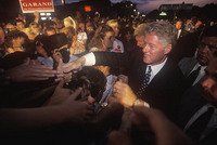 Pres. Clinton campaigning - © John Francis Ficara/ All Rights Reserved