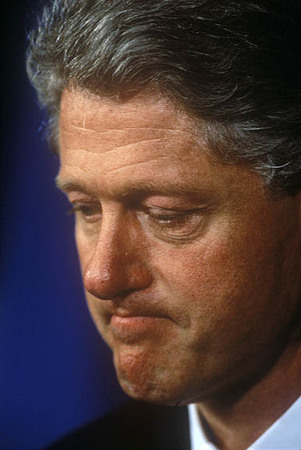 Pres. Clinton at a White House news conference.