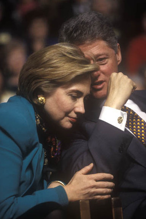 Pres. Clinton and First Lady Hillary Clinton